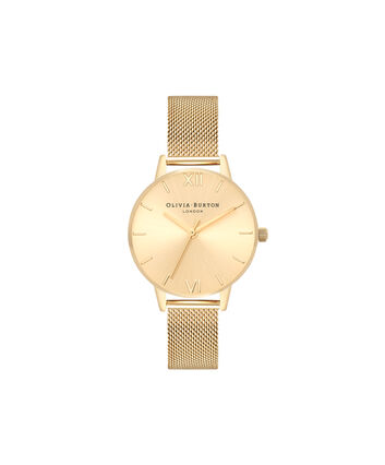 OLIVIA BURTON LONDON Sunray DialOB16MD85 – Mittelgroßes Zifferblatt rund in Gold - Front view