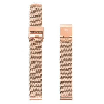 OLIVIA BURTON LONDON Midi Dial Rose Gold Mesh StrapOBS124A – Milanaise-Armband in Roségold - Front view