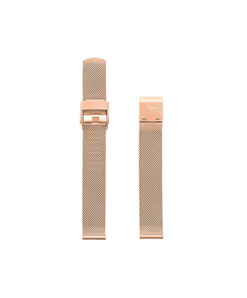 OLIVIA BURTON LONDON Big Dial Rose Gold Mesh StrapOBS169A – Milanaise-Armband in Roségold - Front view