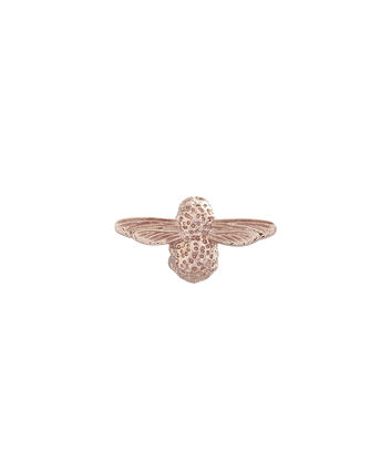 OLIVIA BURTON LONDON 3D Bee JewelleryOBPIN02 – Damen Bienen-Anstecker in Roségold - Front view