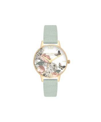 OLIVIA BURTON LONDON Signature FloralsOB16WG50 – Mittelgroßes Zifferblatt rund in Gold - Front view